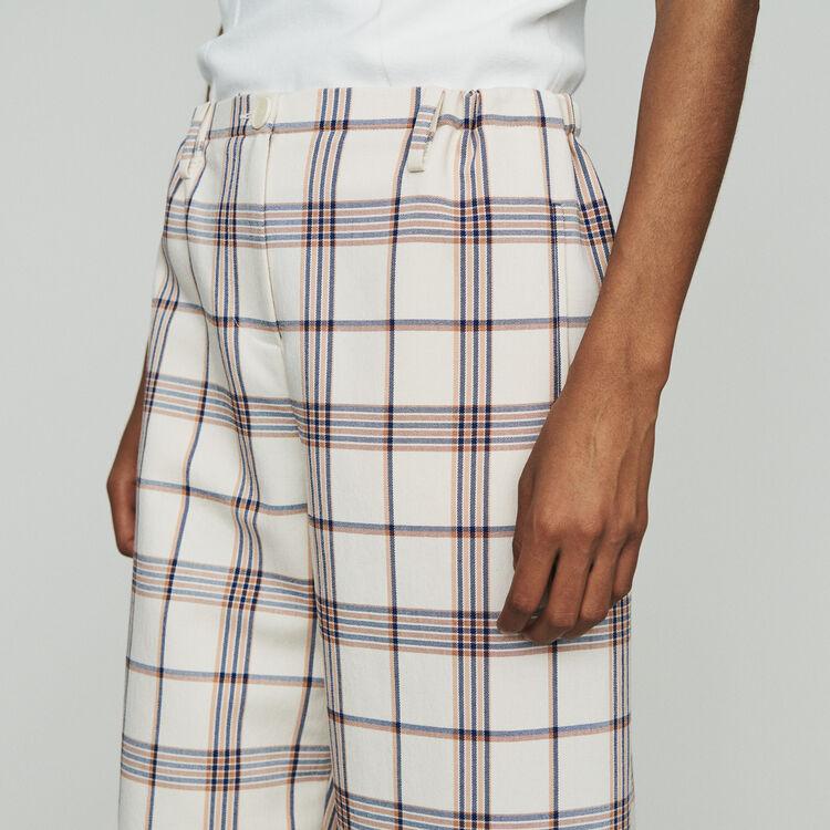 Pantalon large à carreaux : Pantalons & Jeans couleur CARREAUX