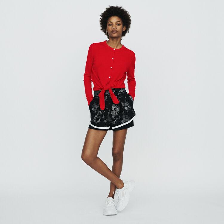 Cardigan noué : Pulls & Cardigans couleur Rouge