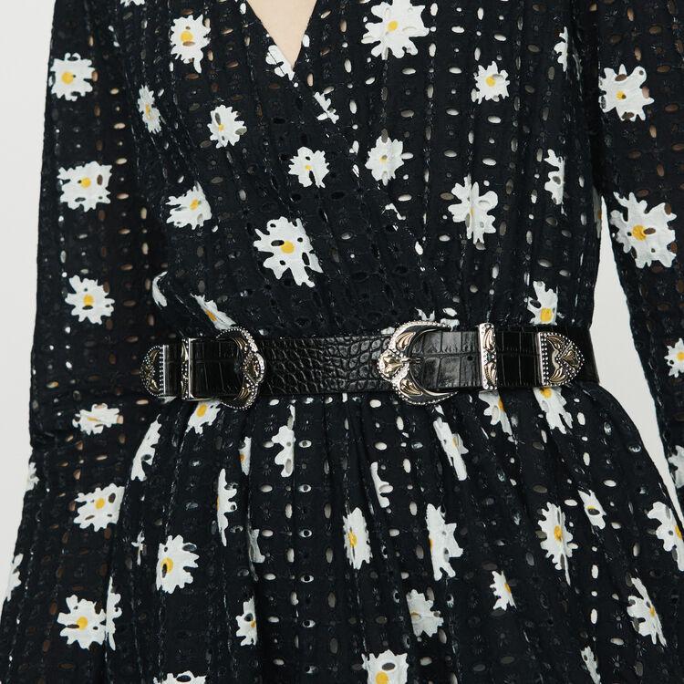 Robe en guipure marguerite : Robes couleur IMPRIME