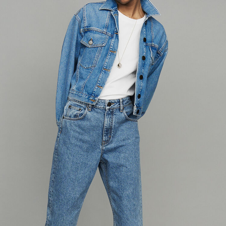 Veste courte en jean : Urban couleur Denim