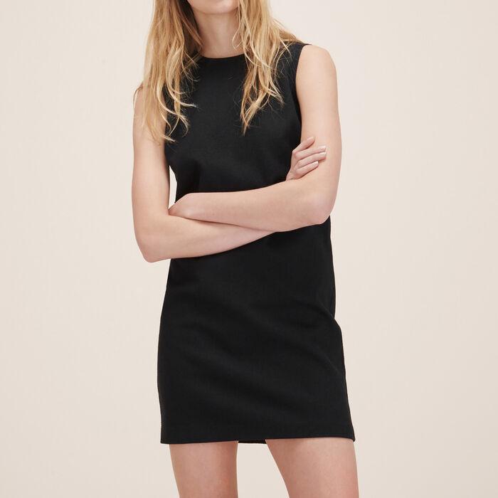 Robe droite sans manches : Robes couleur Black
