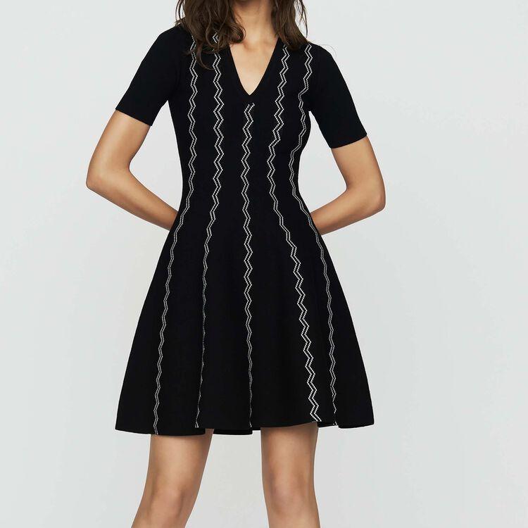 Robe en maille jacquard : Robes couleur Black