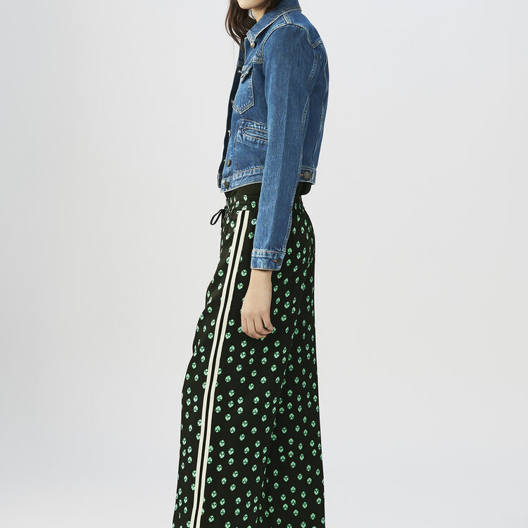Pantalon loose imprimé : Pantalons couleur IMPRIME
