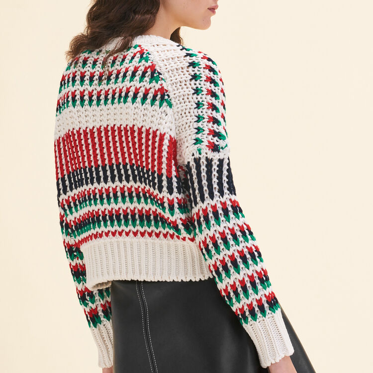 Pull en maille fantaisie multicolore : Maille couleur MULTICO