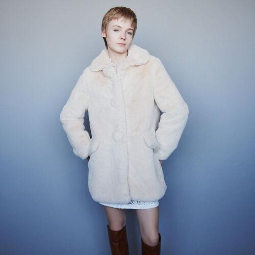Manteau en fausse fourrure : Campagne FW19 couleur NUDE