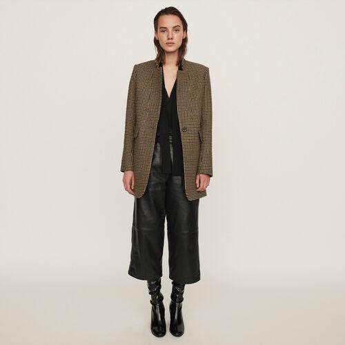 Manteau à carreaux : Collection hiver couleur Marron