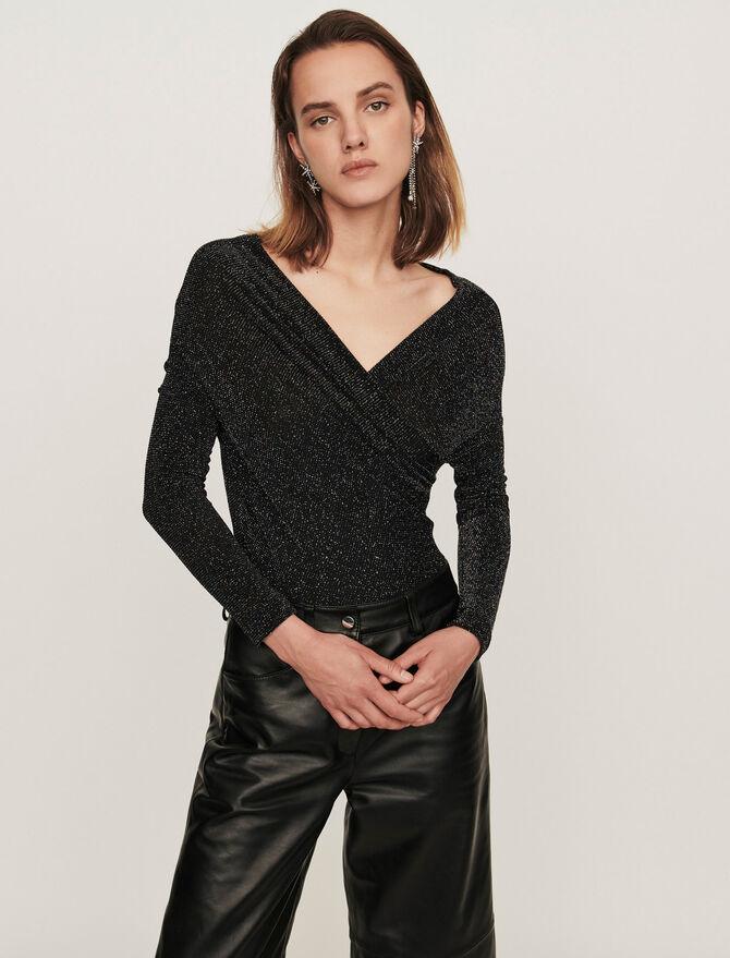 Body manches longues en jersey Lurex - T-Shirts - MAJE