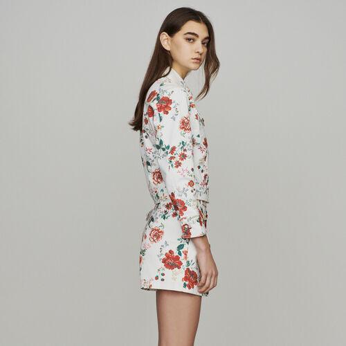 Blouson en jean à imprimé floral : Manteaux & Blousons couleur IMPRIME