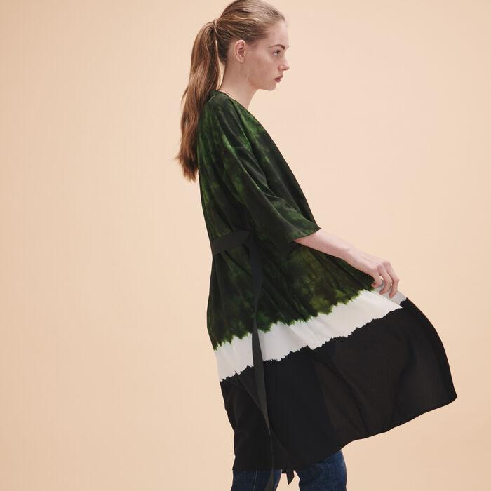 Veste de kimono imprimée Tie and Dye - Voir tout - MAJE