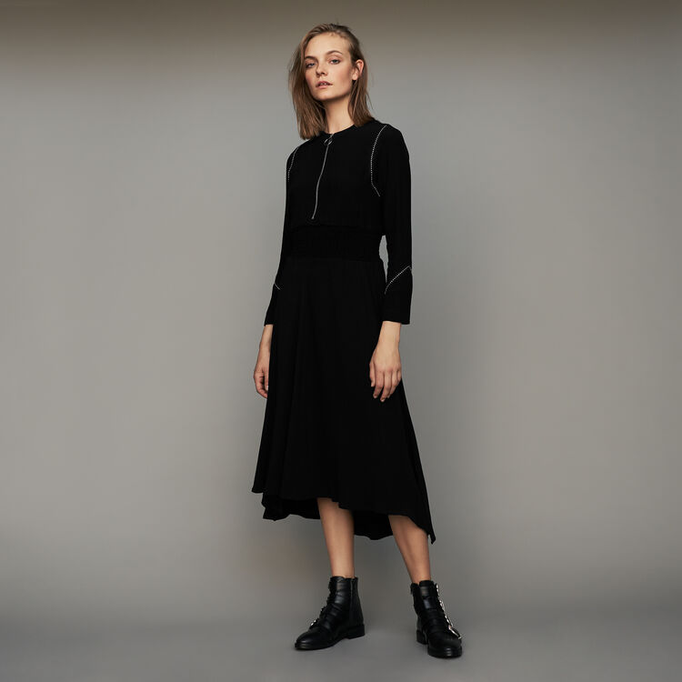 Robe manches longues : Robes couleur Black
