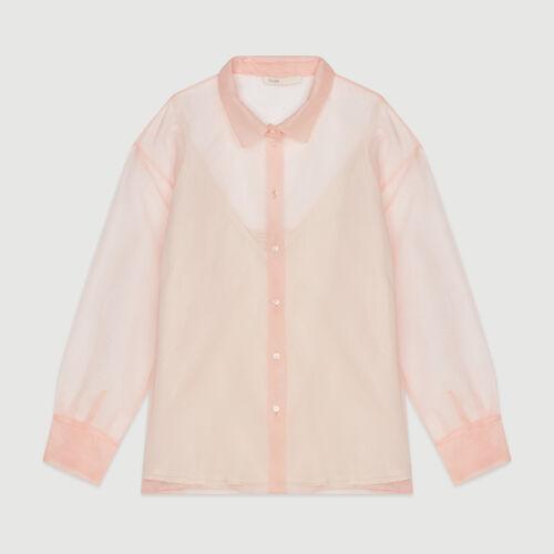 Chemise façon organza : Tops & Chemises couleur Mandarine