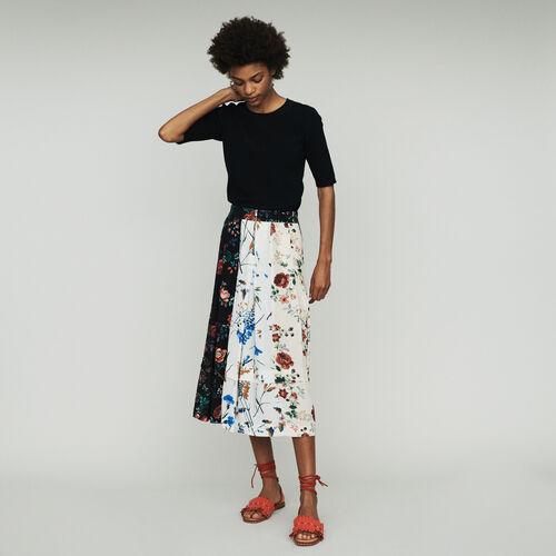Jupe midi imprimée à quilles : Jupes & Shorts couleur Imprime