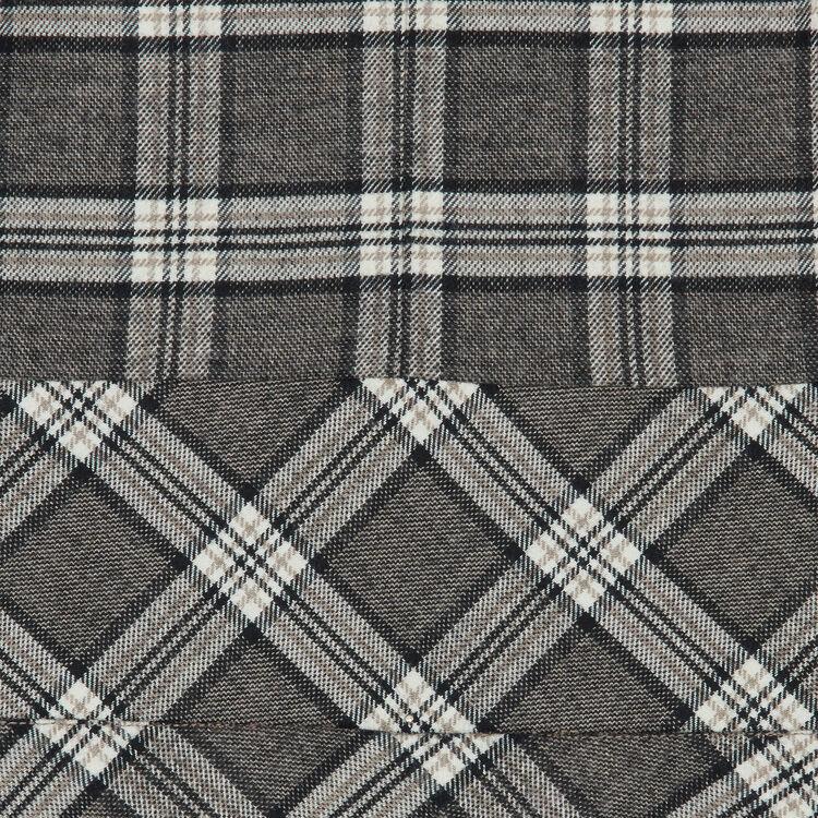 Robe en laine mélangée à carreaux : Robes couleur CARREAUX