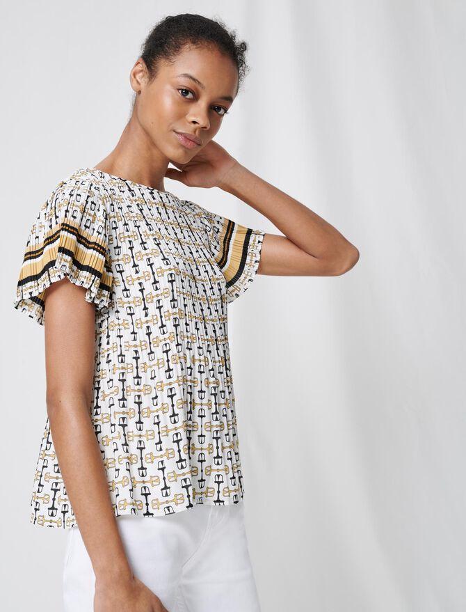 Tunique plissée à imprimé BCBG - Tops & Chemises - MAJE