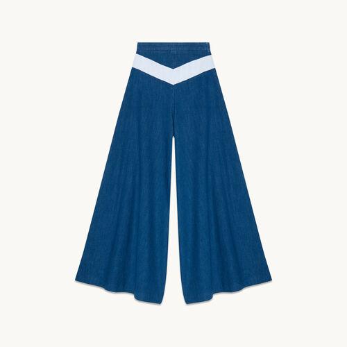 Jupe culotte en jean - null - MAJE