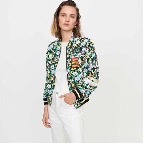 Blouson à imprimé floral : Manteaux & Blousons couleur IMPRIME