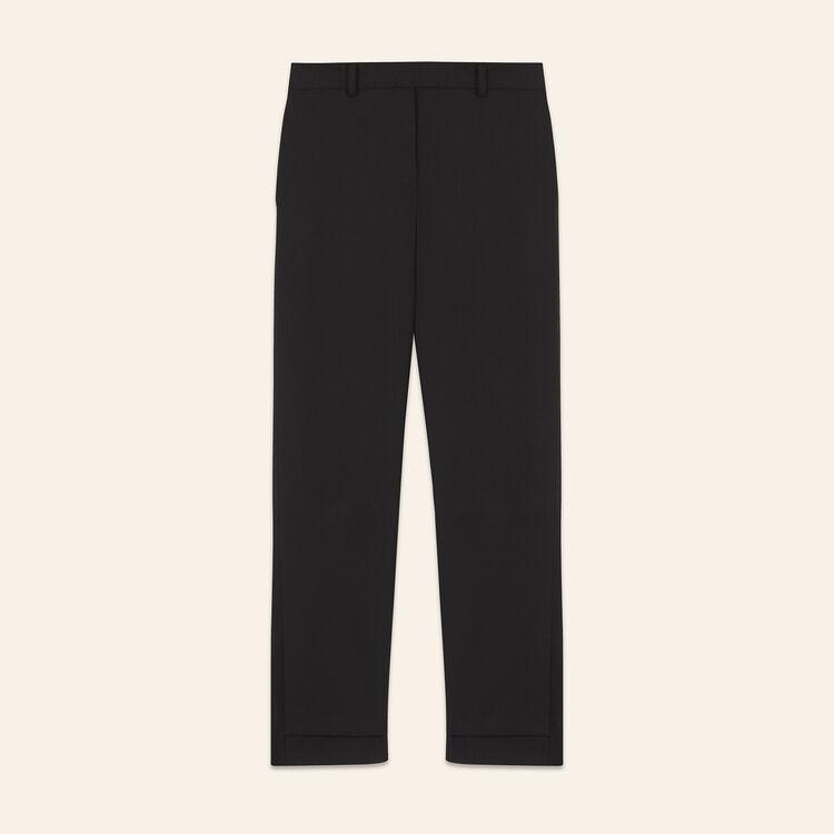 Pantalon 7/8 en crêpe - Pantalons - MAJE