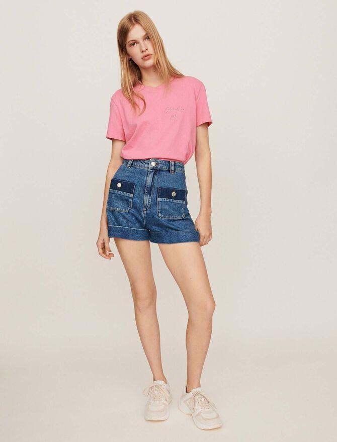 Short large en jean avec poches - Jupes & Shorts - MAJE