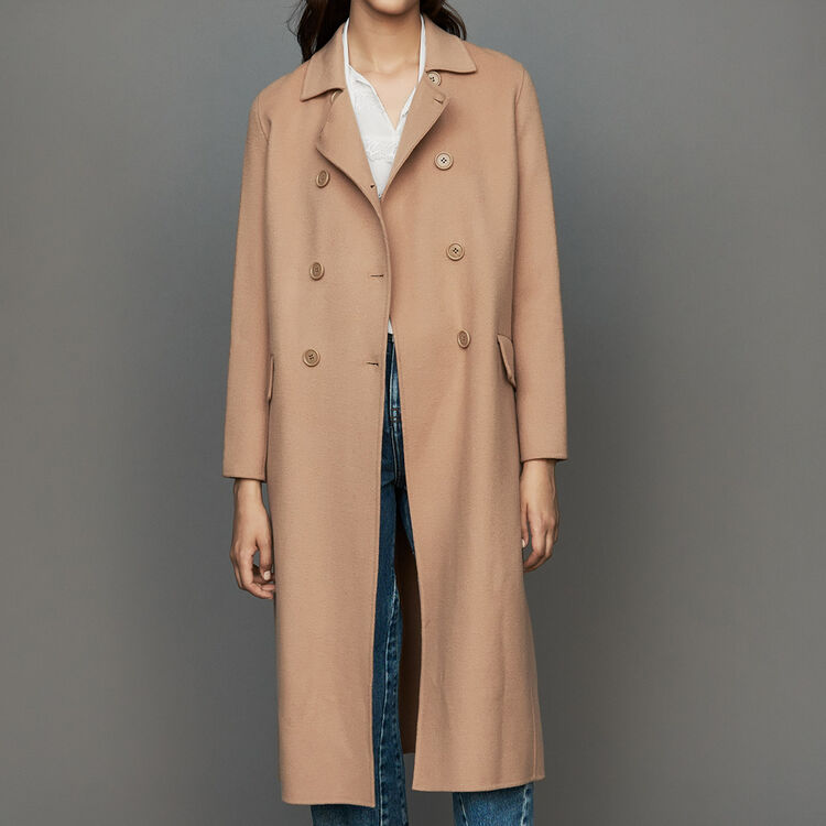 a20ed7203e412 Manteaux true Manteau long en laine double face   Manteaux couleur Camel
