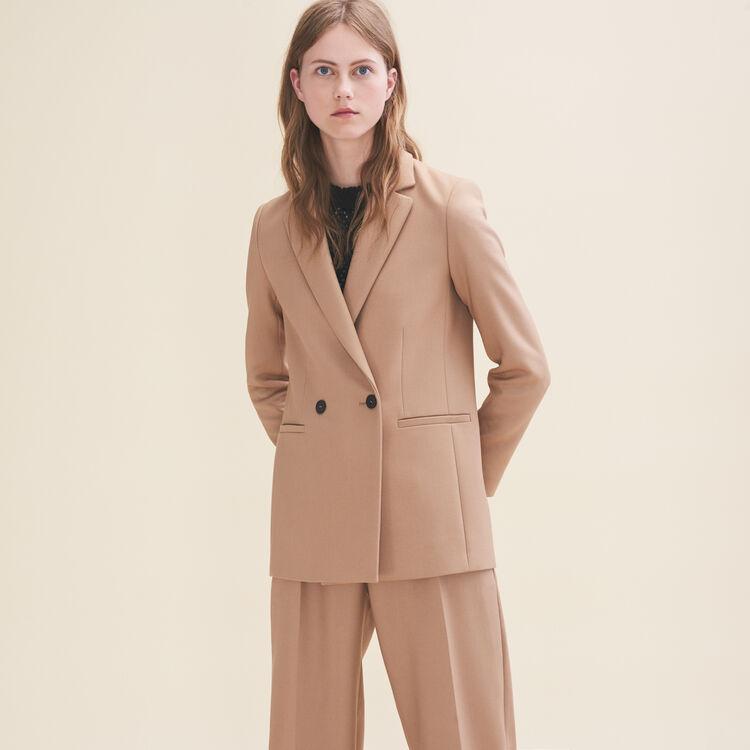 Veste de tailleur mi-longue : Vestes couleur Camel