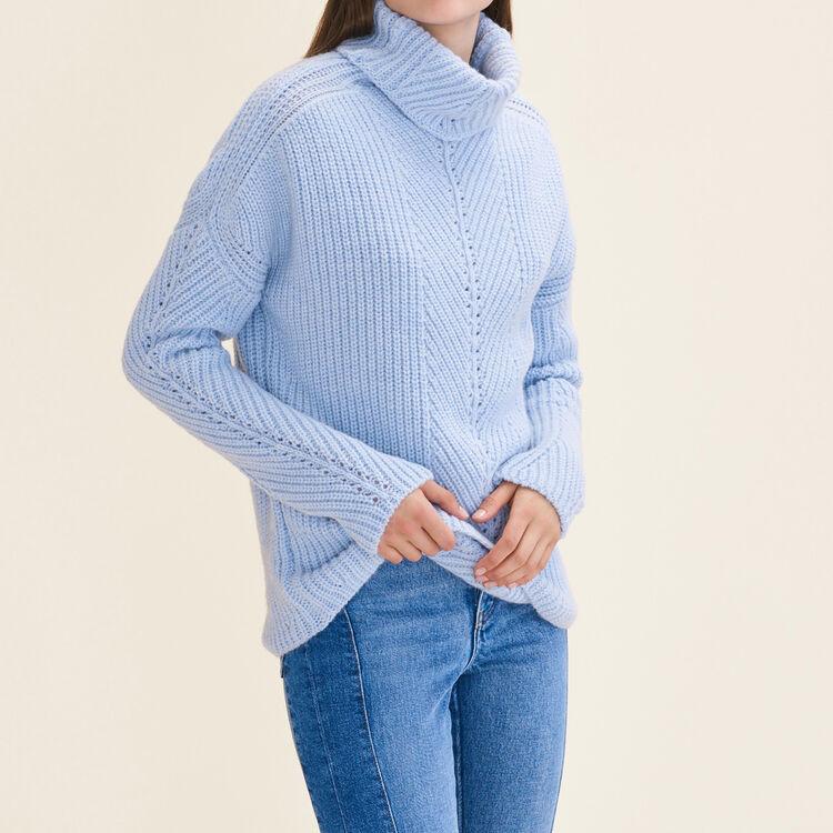 Pull à col roulé oversize : Pulls & Cardigans couleur Bleu Ciel