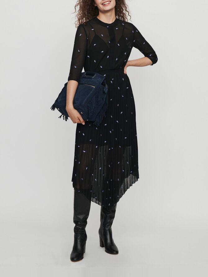 Robe foulard plissée motif cachemire - Midseason-Sales_IE_Bestsellers - MAJE