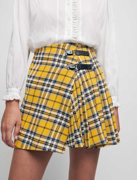 Jupe plissée à carreaux façon kilt - Jupes & Shorts - MAJE