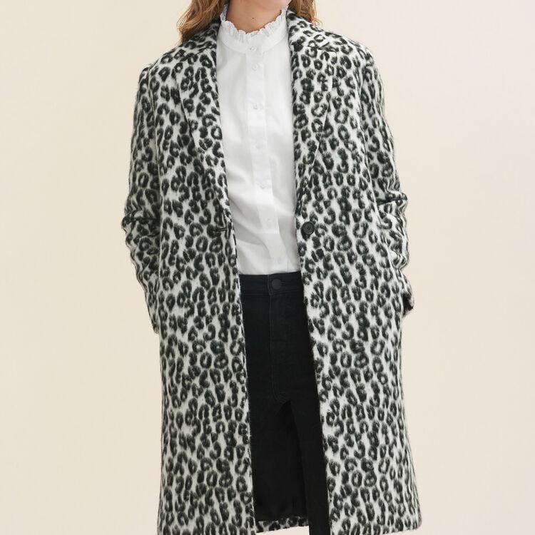 Redingote à motif léopard : Manteaux couleur Imprime