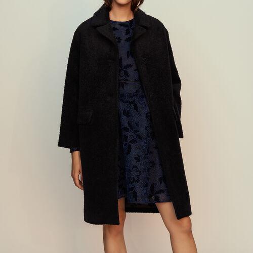 Manteau long en alpaga : Manteaux couleur Marine