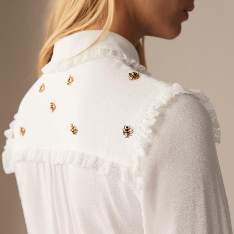 Chemise avec abeilles brodées - Pre-Collection - MAJE