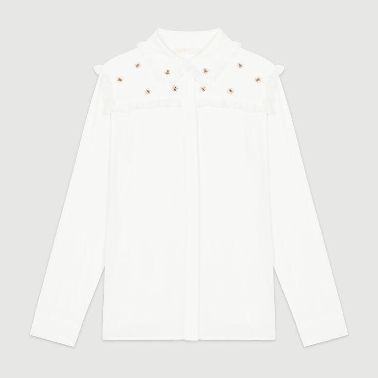 Chemise sertie d'abeilles : Chemises couleur Blanc