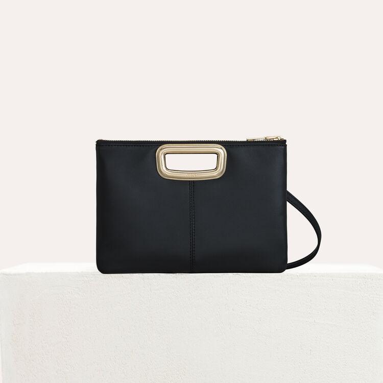 Pochette M Duo Skin en cuir et métal : M Skin couleur Black