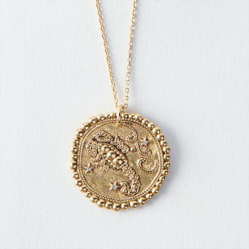 Collier Scorpion signe du zodiaque : Tous les accessoires couleur Vieux Laiton