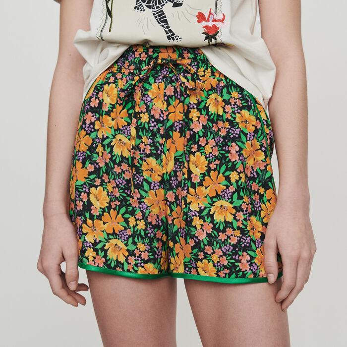 Short fluide à imprimé floral : Jupes & Shorts couleur Imprime