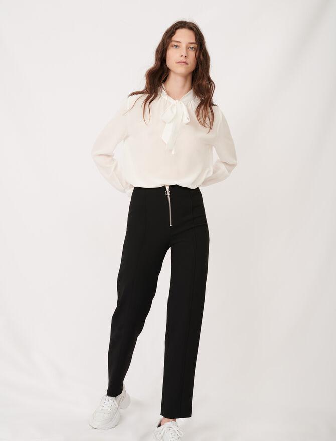 Pantalon droit zippé - Pantalons & Jeans - MAJE