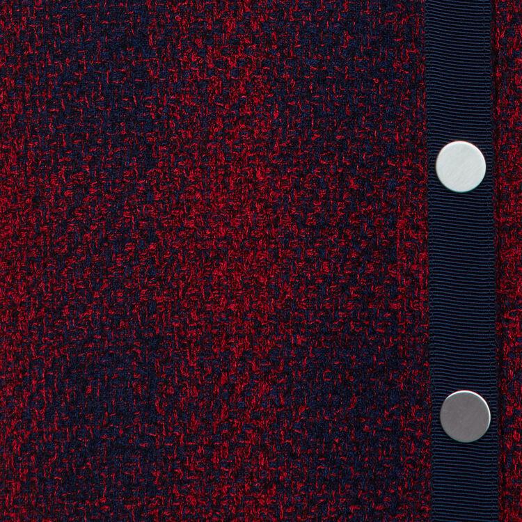 Robe-chemise en tweed : Robes couleur CARREAUX