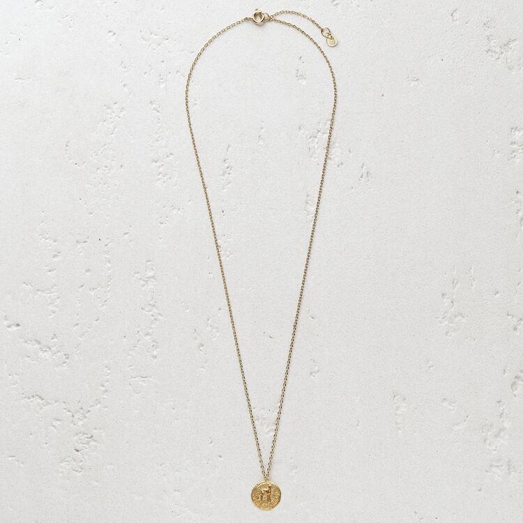 """Collier avec médaillon """"Ma biche"""" : Bijoux couleur OR"""