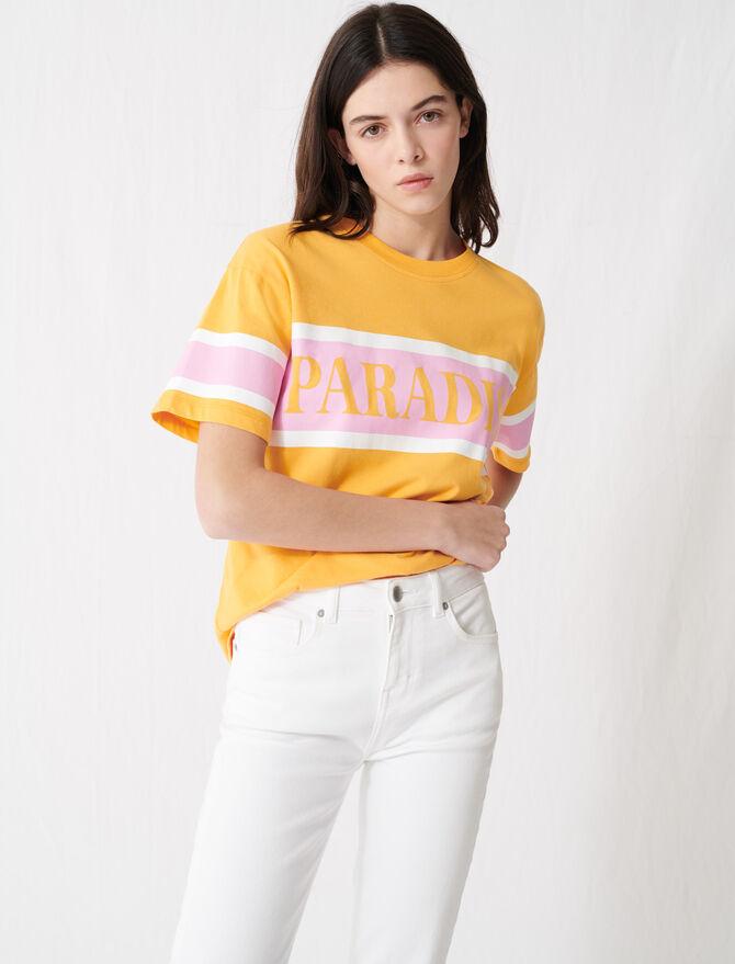"T-shirt sérigraphié ""Paradise"" -  - MAJE"