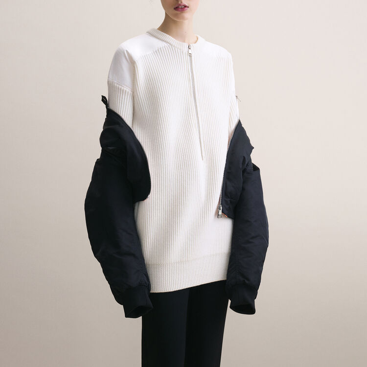 Robe avec empiècements en Nylon - Robes - MAJE