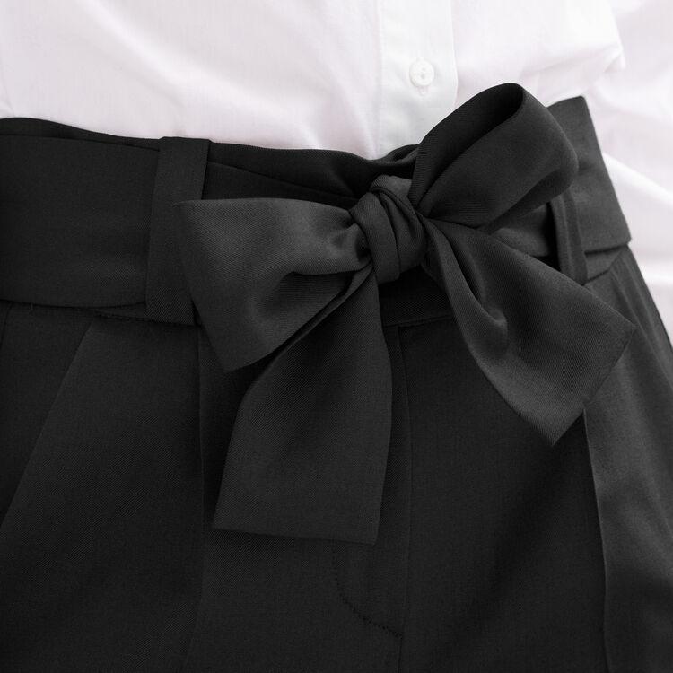 paris pantalon carotte avec n ud maje paris. Black Bedroom Furniture Sets. Home Design Ideas