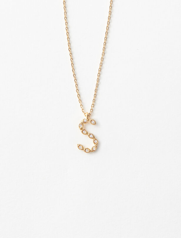 마쥬 목걸이 MAJE Collier S Strasse,Or