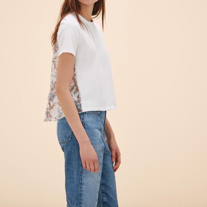Tee-shirt avec imprimé au dos -  - MAJE