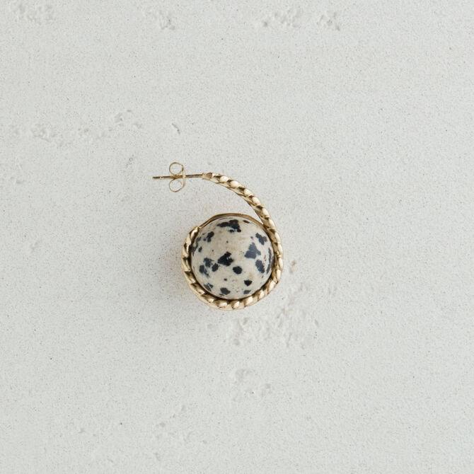 Boucle d'oreille droite en pierre - Bijoux - MAJE