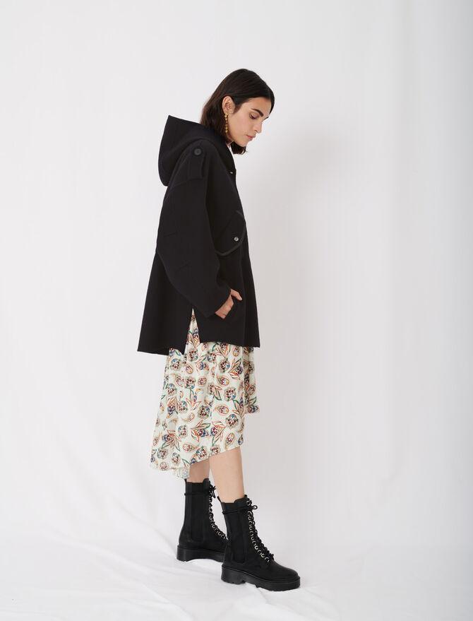 Manteau à capuche en double face - null - MAJE