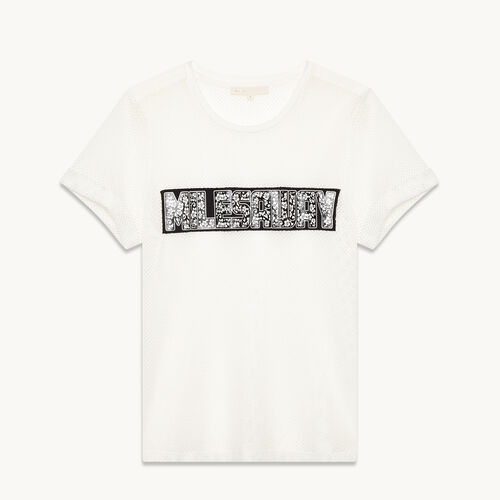 Tee-shirt en résille - null - MAJE