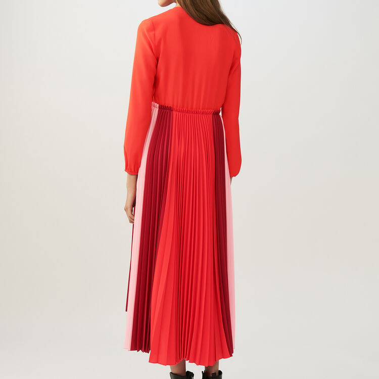 Robe-chemise plissée multicolore : Robes couleur MULTICO