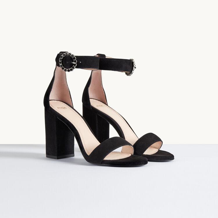 faria sandale talon en cuir de su de accessoires. Black Bedroom Furniture Sets. Home Design Ideas