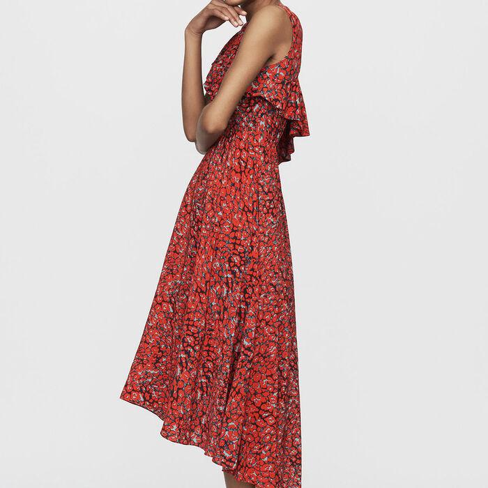 Robe sans manches asymétrique : Robes couleur Imprime