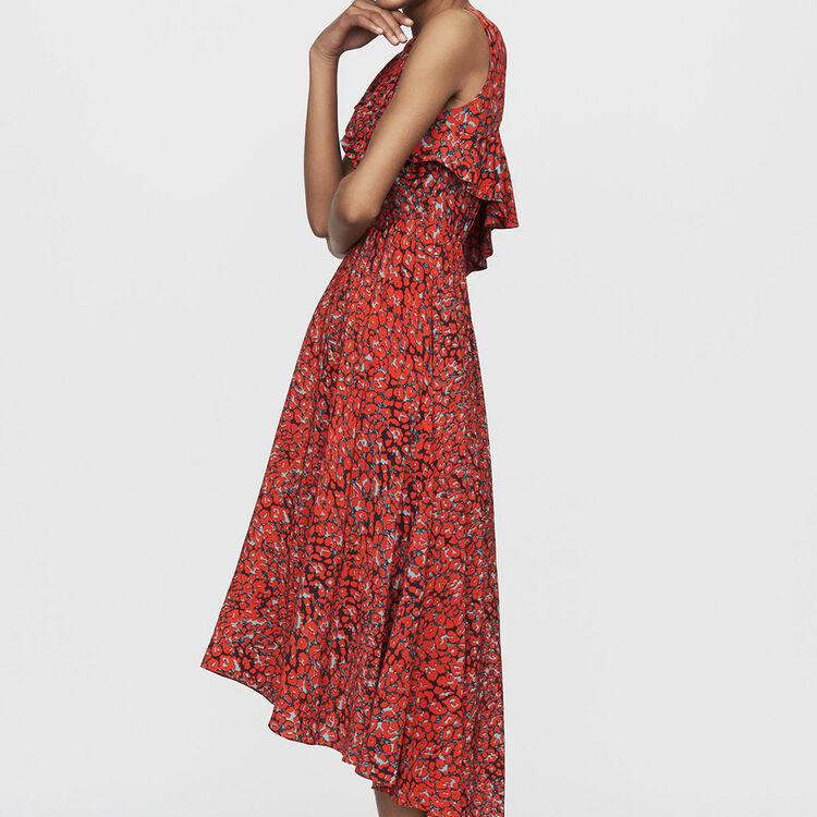 Robe sans manches asymétrique : Nouvelle Collection couleur Imprime