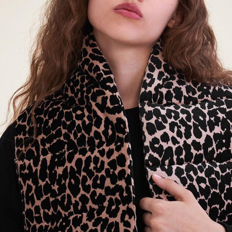Echarpe matellassée imprimée léopard : Accessoires couleur IMPRIME